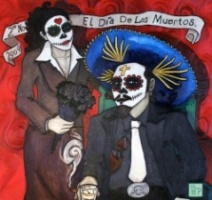 EL DIA DE LOS MUERTES | 2009 | OIL ON WOOD | 5' x 5'