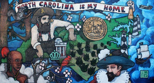 NORTH CAROLINA IS MY HOME | 2010 | OIL ON WOOD | 6' x 4'