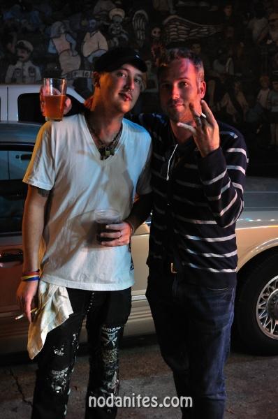 Ryan Small (right) with Davie Dirt